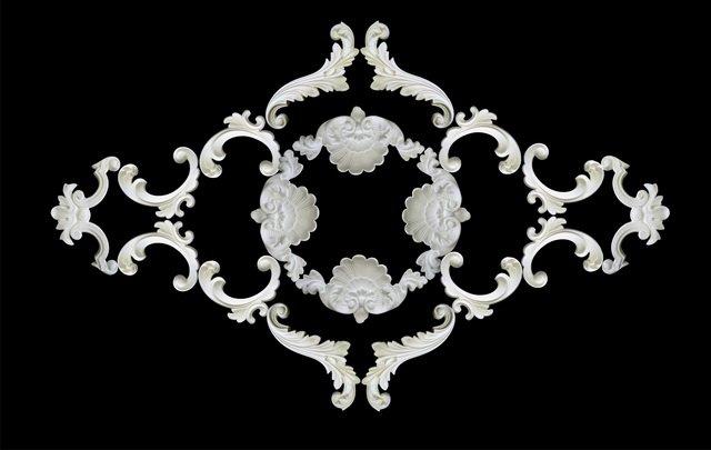 готовое угол из декоративных элементов гипсовой лепнины
