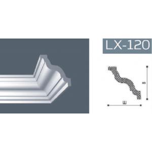 Плинтус потолочный NMC LX-120 (GR)