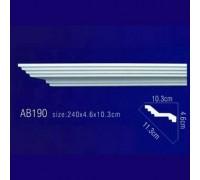 Плинтус потолочный без орнамента Гибкий AB190F