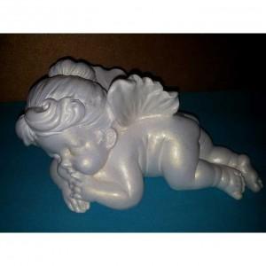 Скульптура ангелочек малая из гипса ск002