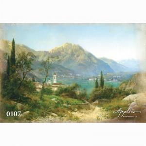 Фреска классический пейзаж фр107