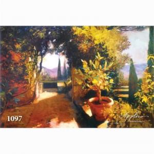 Фреска классический пейзаж фр1097