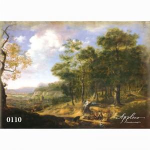Фреска классический пейзаж фр110