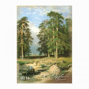 Фреска классический пейзаж фр116