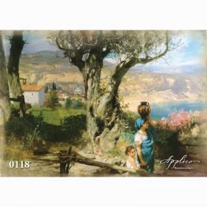 Фреска классический пейзаж фр118