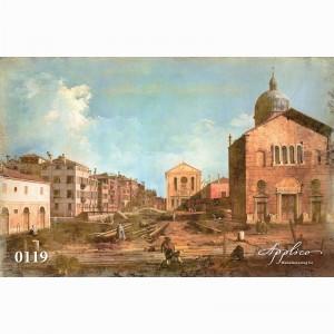 Фреска классический пейзаж фр119