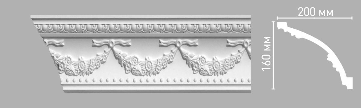 Плинтус потолочный Decomaster 95026/12 (120х120х2400мм)