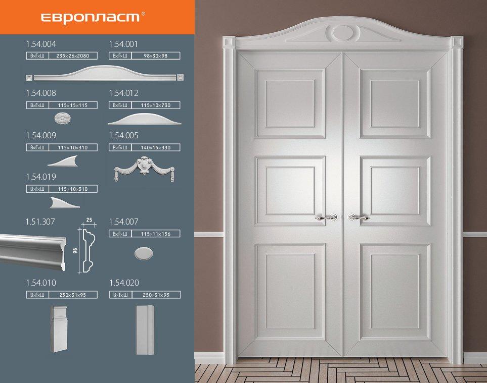 обрамление дверей полиуретановыми изделиями