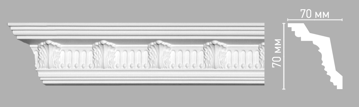 Плинтус потолочный Decomaster 95017/45 (70х70х2400мм)
