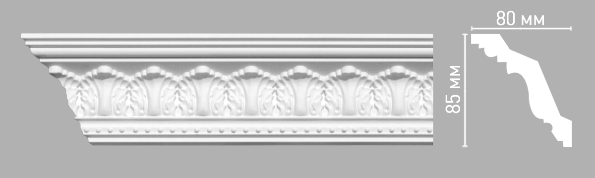 Плинтус потолочный Decomaster 95024/36 (85х80х2400мм)