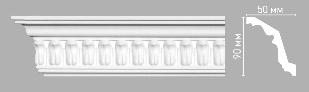 Плинтус потолочный Decomaster 95028/54 (90х50х2400мм)