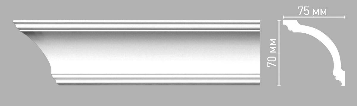 Плинтус потолочный Decomaster 96260/60 (70х75х2400мм)